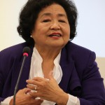 Setsuko Thurlow överlevde kärnvapenattacken över Hiroshima. Idag arbetar hon för ett förbud mot kärnvapen. Foto: ICAN
